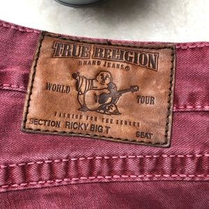 True Religion | Ricky Big T Red Jeans Size 28